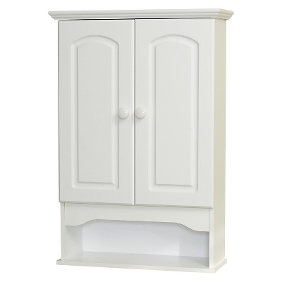Classic Hartford White Wall Cabinet White Wood - Zenna Home