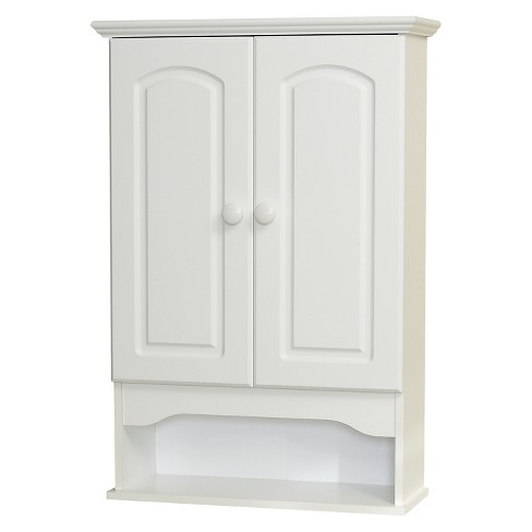 Classic Hartford White Wall Cabinet White Wood - Zenna Home - image 1 of 2