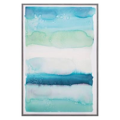 "24"" x 36"" Watercolor Wash I by Natasha Marie Framed Wall Art Canvas - Fine Art Canvas"