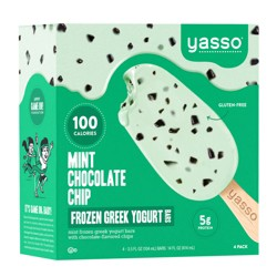 Yasso Frozen Greek Yogurt - Mint Chocolate Chip Bars - 4ct