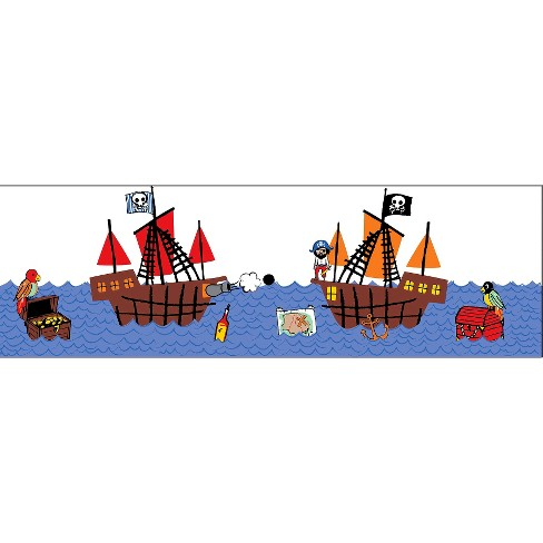 WallPops!® Argh Pirates Stripe - image 1 of 4