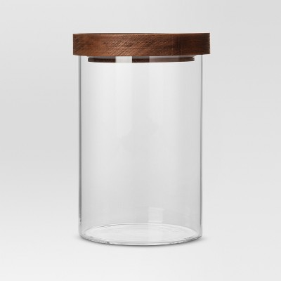 Medium Glass Storage Canister with Wood Lid - Threshold™