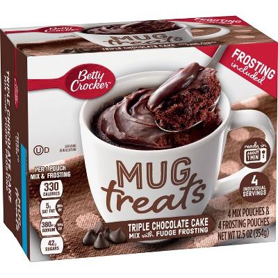 Betty Crocker Mug Treats Triple Chocolate Cake Mix - 4ct/12.5oz