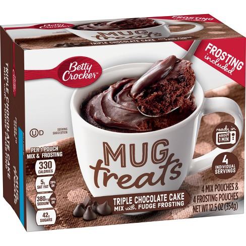 Betty Crocker Mug Treats Triple Chocolate Cake Mix - 4ct/12.5oz - image 1 of 3