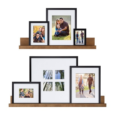 8pc Gallery Frame Box Set Rustic Brown - Kate & Laurel All Things Decor