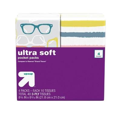 Facial Tissue Pocket Pack - 4pk/10ct - Up&Up™