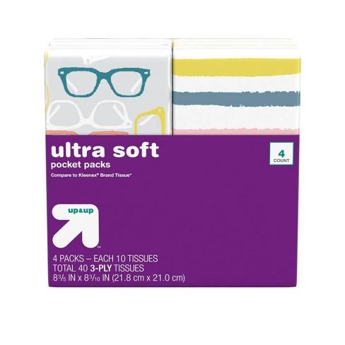 Facial Tissue Pocket Pack - 4pk/10ct - Up&Up™ - image 1 of 4