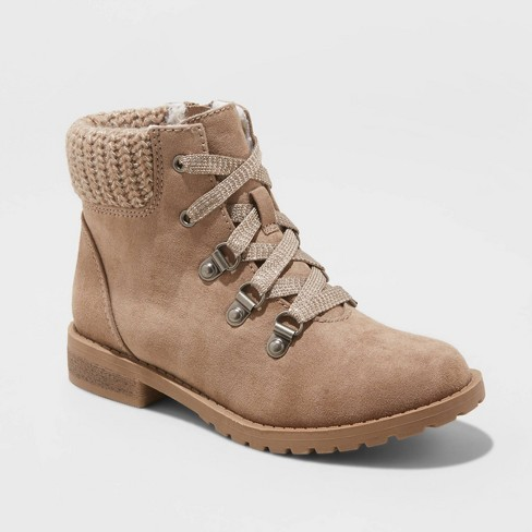 Girls' Leilani Ankle Boots - Cat & Jack™ Tan - image 1 of 3
