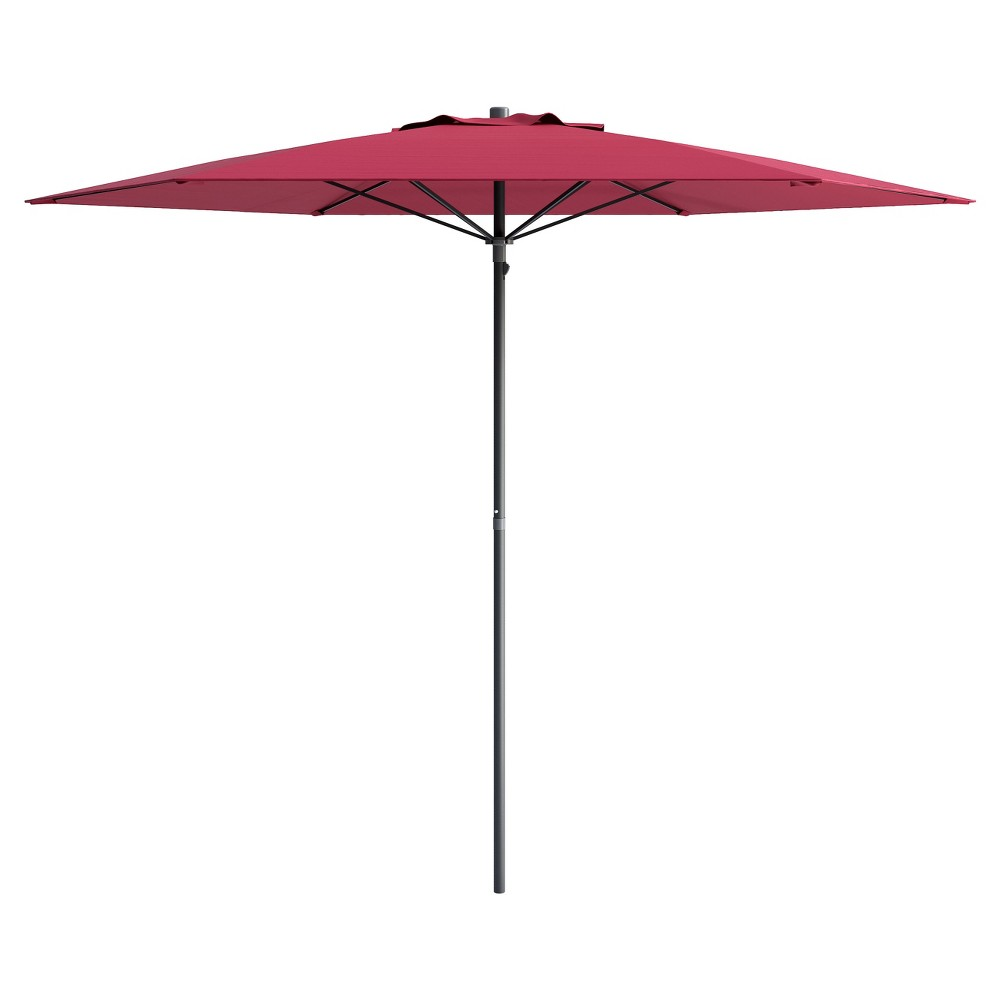 Image of 6' UV and Wind Resistant Beach/Patio Umbrella - Red - CorLiving