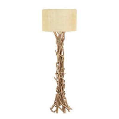 "59"" Natural Driftwood Twigs Floor Lamp - Olivia & May"