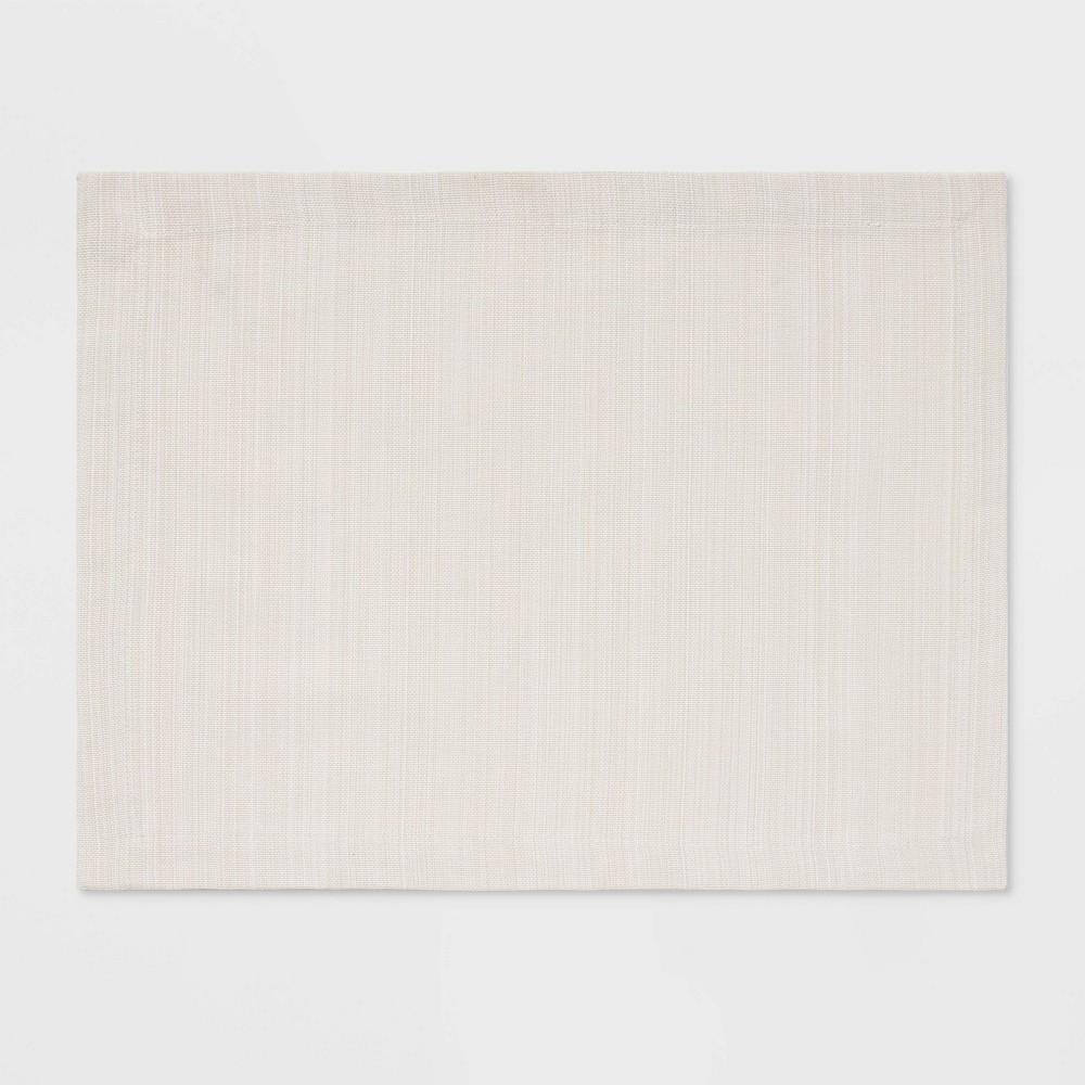 Cotton Solid Placemat Cream Threshold 8482