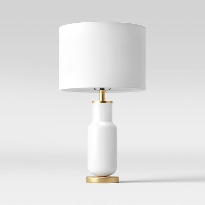 Large Assembled Tapered Glass Table Lamp (Includes LED Light Bulb) White - Project 62™
