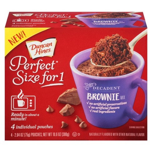 Duncan Hines Perfect Size for 1 Brownie Chocolate Mix - 10 6oz/4ct