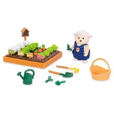 Li'l Woodzeez Miniature Playset with Animal Figurine 31pc - Garden Set