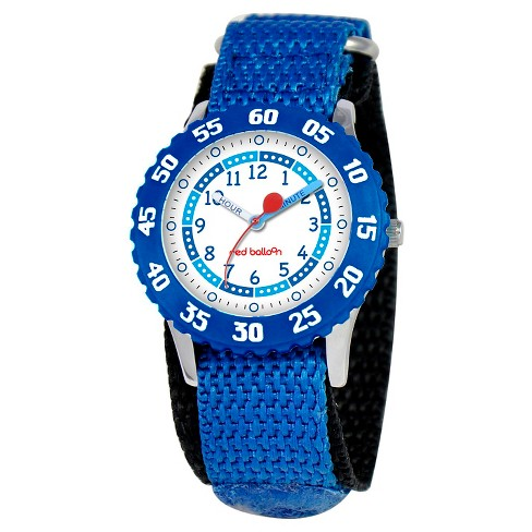 Boys' Red Balloon Stainless Steel Time Teacher with Bezel Watch - Blue - image 1 of 2
