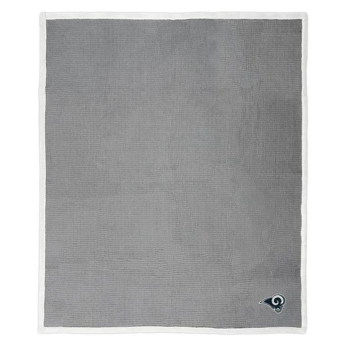 NFL Los Angeles Rams Waffle Trend Throw Blanket - image 1 of 3