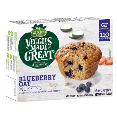 Garden Lites Veggies Made Great Frozen Blueberry Oat Muffins - 12oz/6ct