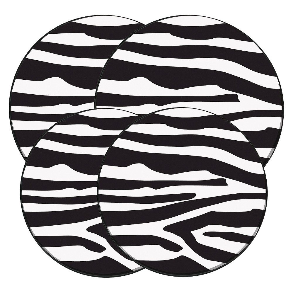 Range Kleen Burner Kovers Round In the Wild - Zebra, Brown