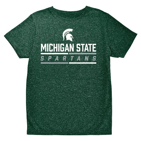 NCAA Boys' Hail Mary Bi-Blend Crew Neck T-Shirt Michigan State Spartans - image 1 of 1