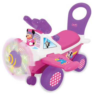 Kiddieland Disney Minnie Activity Plane Ride-On