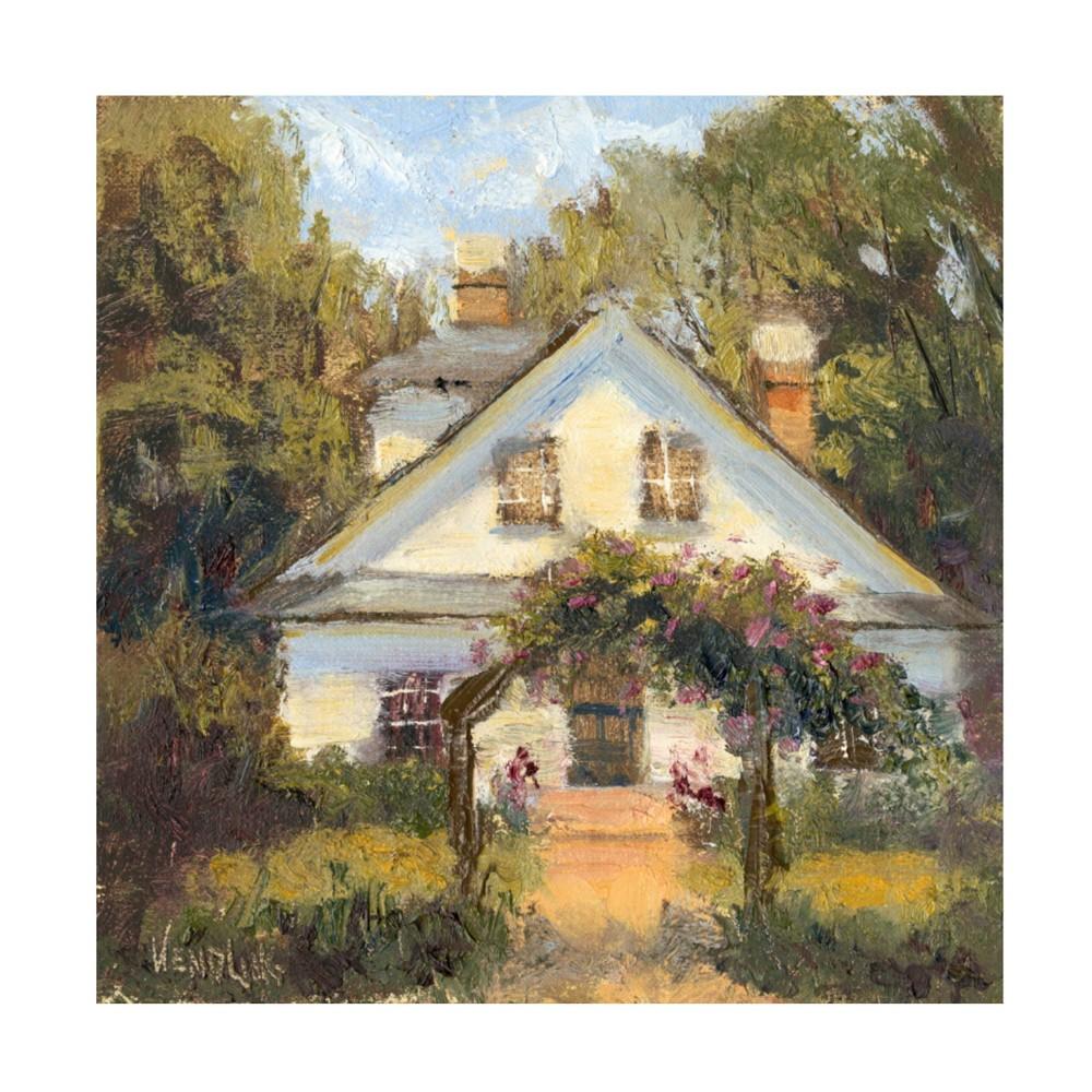 14 34 X 14 34 Marilyn Wendling 39 Sweet Cottage Ii 39 Unframed Wall Canvas Trademark Fine Art