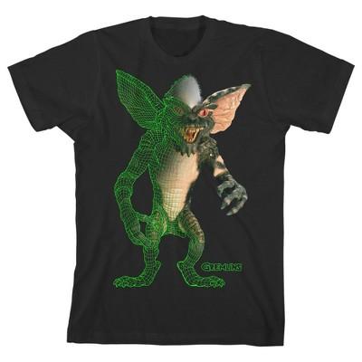 Gremlins Horror Movie Youth Boys Black Short Sleeve Graphic Tee