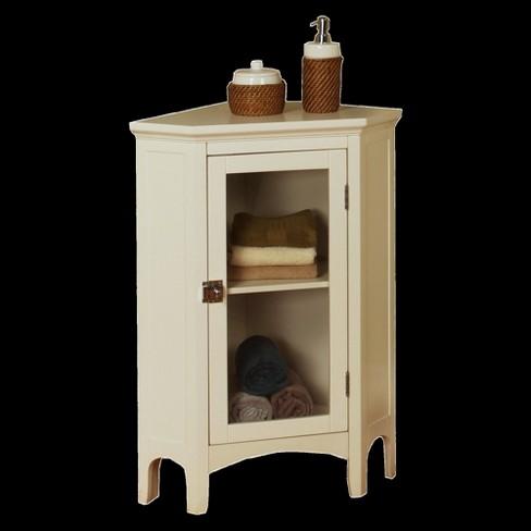 Madison Avenue Corner Floor Cabinet White Elegant Home Fashions Target