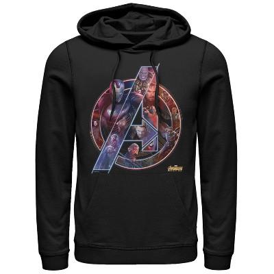Men's Marvel Avengers: Infinity War Logo Pull Over Hoodie