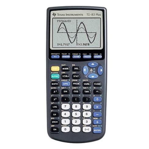 Texas Instruments 83 Plus Black Calculator - image 1 of 4
