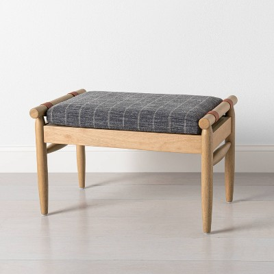 Upholstered Natural Wood Ottoman - Hearth & Hand™ with Magnolia