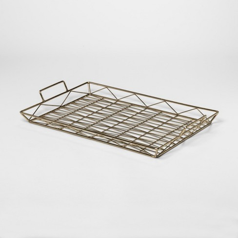 Decorative Geometric Tray Small - Gold - Project 62™ - image 1 of 2