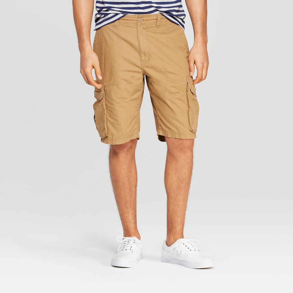 Image of Men's 11 Cargo Shorts - Goodfellow & Co Brown 30, Dapper Brown