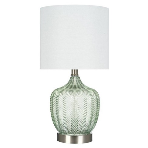 """18"""" Glass Accent Lamp Green  - Cresswell Lighting - image 1 of 4"""