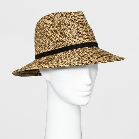 Women's Downbrim Panama Hat - A New Day™ Natural Black - image 1 of 4