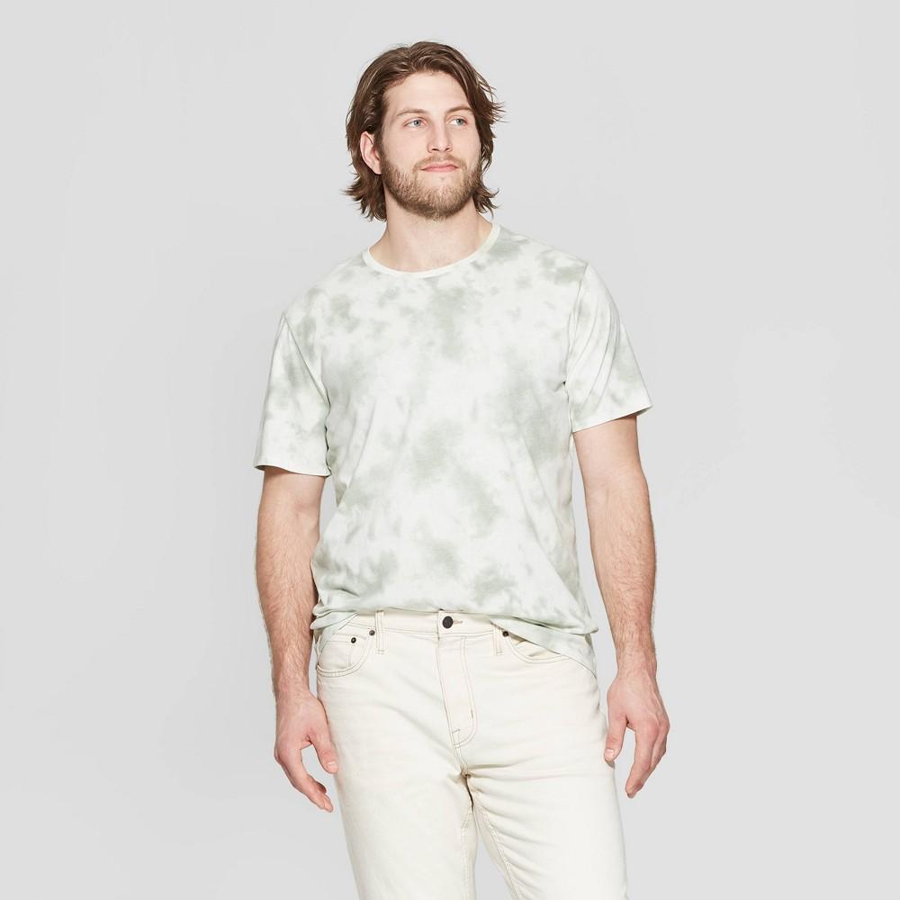 Men's Big & Tall Standard Fit Short Sleeve Novelty Crew T-Shirt - Goodfellow & Co Nestle Green 5XBT