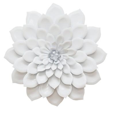 Layered White Flower Wall Decor - Stratton Home Decor