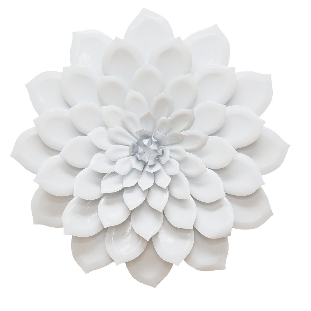 Layered White Flower Wall Decor - Stratton Home Decor