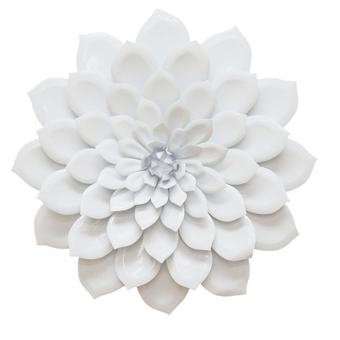 Layered White Flower Wall Decor - Stratton Home Decor - image 1 of 2