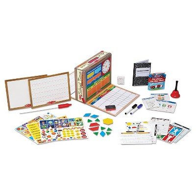 Melissa & Doug® School Time! Classroom Play Set Game - Be Teacher or Student