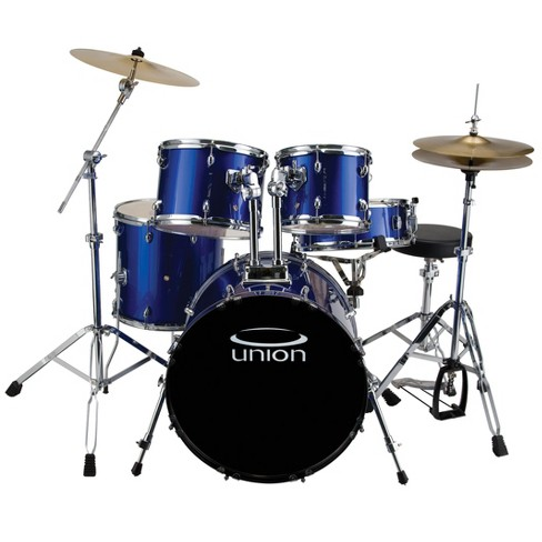 Union U5 5pc Jazz Rock Blues Drum Set With Hardware Cymbals And
