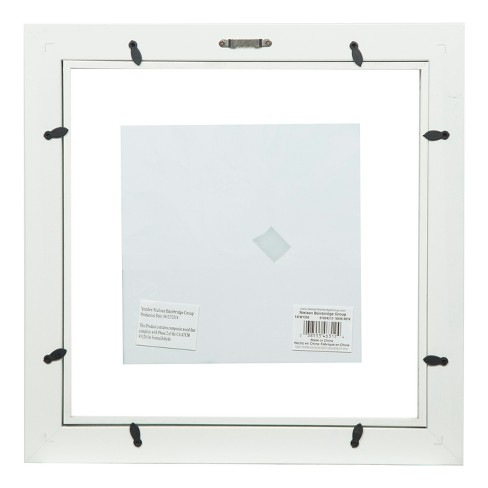 Single Image 12X12 Float To 8X8 Wide White Frame - Gallery Solutions ...