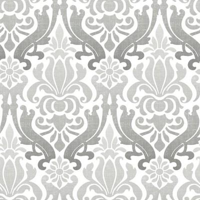 NuWallpaper Nouveau Damask Peel & Stick Wallpaper Gray