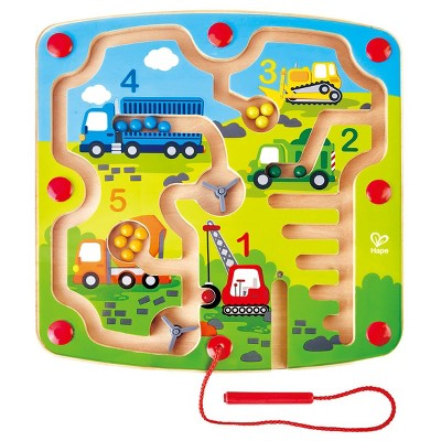 HAPE Wooden Construction and Number Magnetic Maze