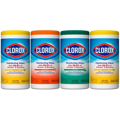 Clorox Disinfecting Wipes Value Pack Bleach Free Cleaning Wipes - 75ct Each/4pk