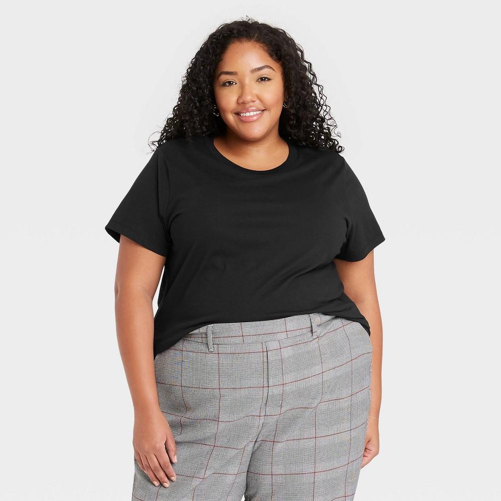 Women 39 S Plus Size Short Sleeve T Shirt A New Day 8482 Black 1x