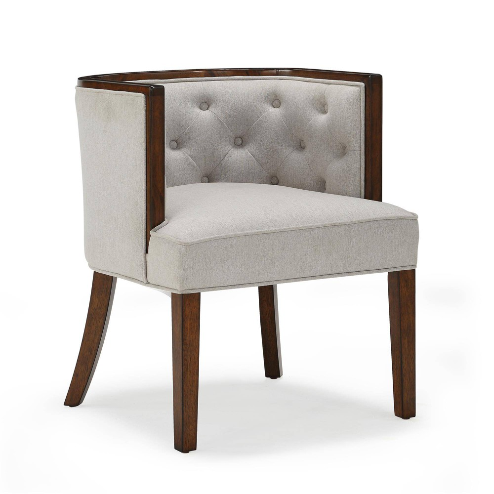 Image of 2pc Gerard Rounded Back Accent Chair Heathered Oatmeal - Dorel Living, Beige