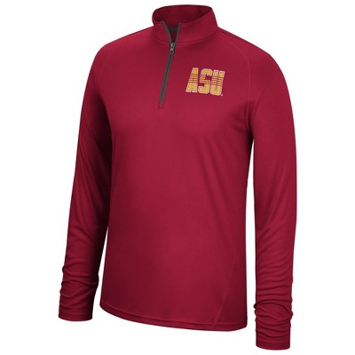 NCAA Arizona State Sun Devils Men's Long Sleeve 1/4 Zip Sweatshirt