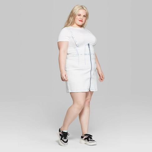 Women\'s Plus Size Strappy Pinafore Mini Dress - Wild Fable™ Light ...
