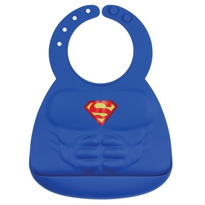 Bumkins DC Comics Silicone Muscle Bib - Superman