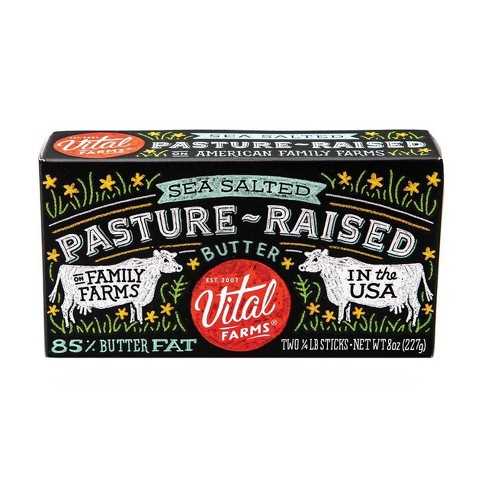 Vital Farms Pasture-Raised Sea Salted Butter - 8oz - image 1 of 3